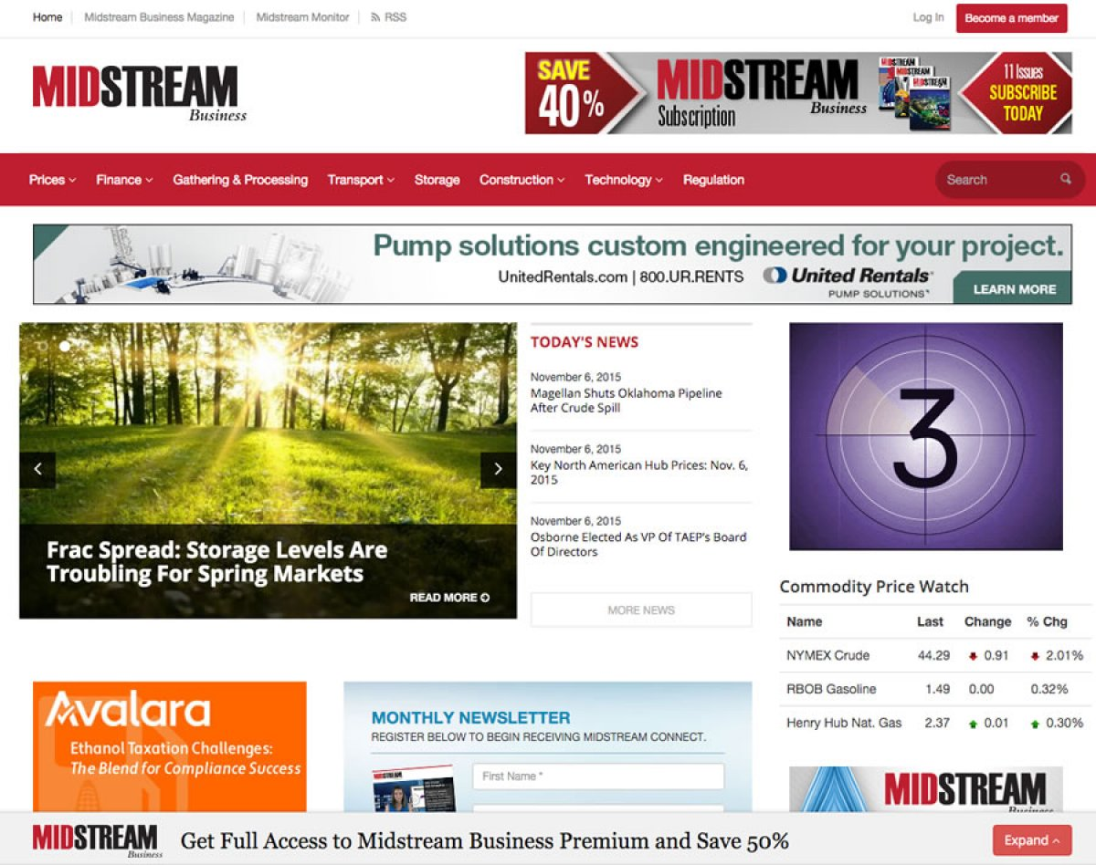 Custom Design Website - MidStream Business
